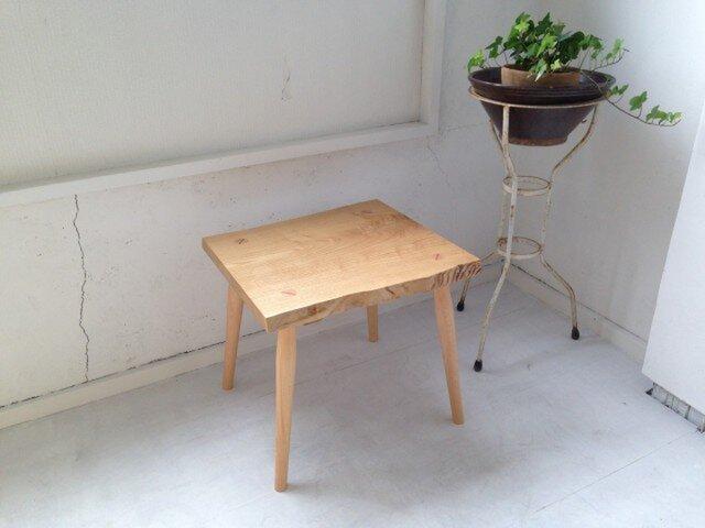 玄関スツール椅子・おしゃれ天然木 I15-S13-クリの画像1枚目