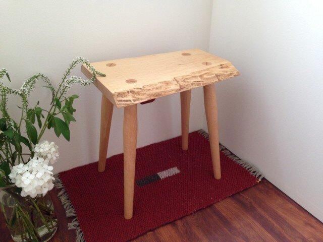 玄関スツール椅子・おしゃれ天然木 I15-S15-カエデの画像1枚目