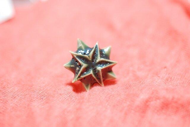 五角星ミニタイピン/緑の画像1枚目