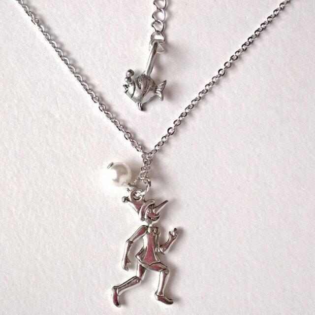 【ピノキオとクレオ  の ネックレス】の画像1枚目