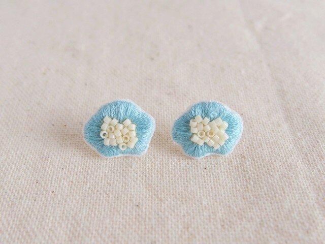 <受注制作>flower pierce / light blueの画像1枚目