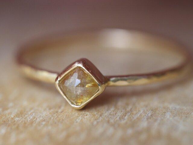 Orange Beige Diamond Ringの画像1枚目