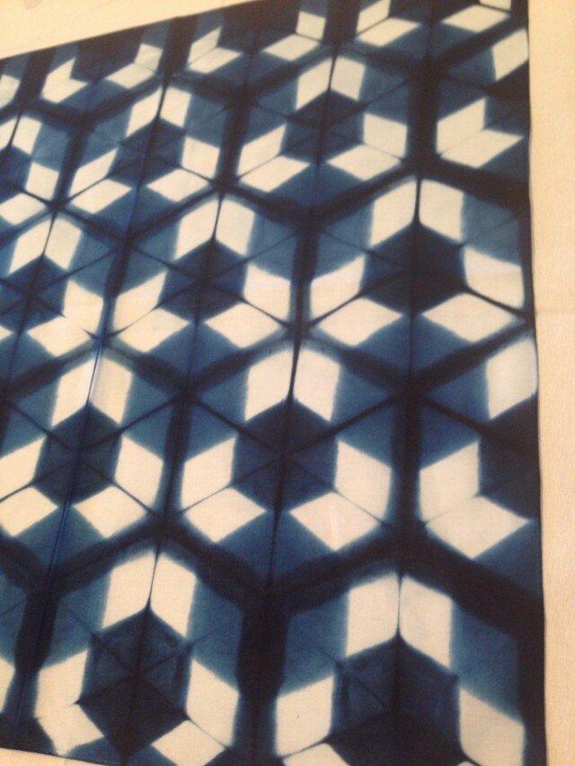 藍板染ハンカチの画像1枚目
