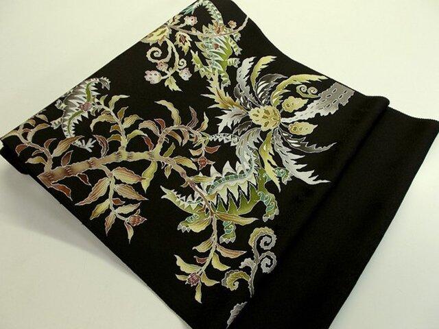 名古屋帯&袋帯(古代植物と恐竜家族)の画像1枚目