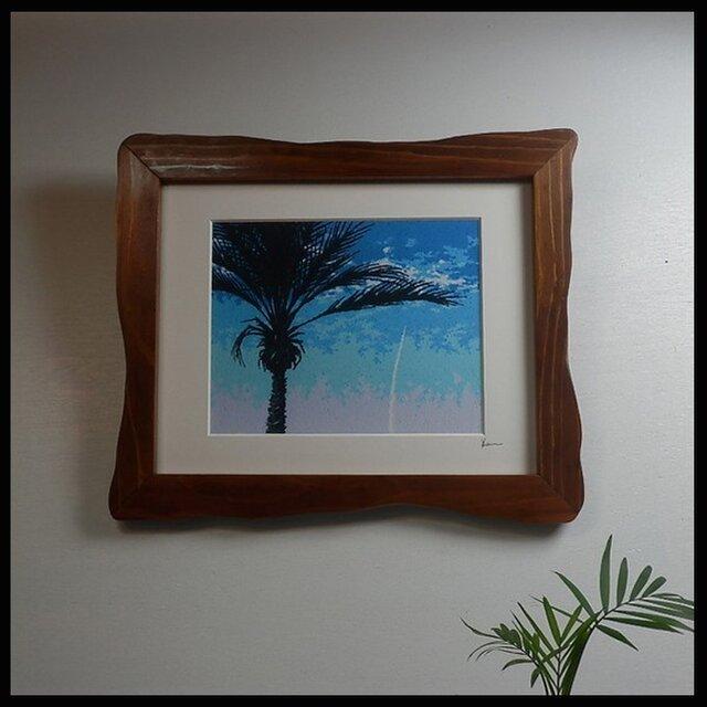種子島発ゆらぎフレーム入り絵画 「サウスポイント」の画像1枚目
