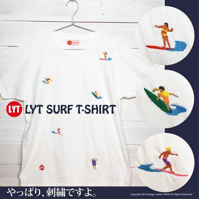 SURF 5 刺繍 クルーネック Tシャツの画像1枚目