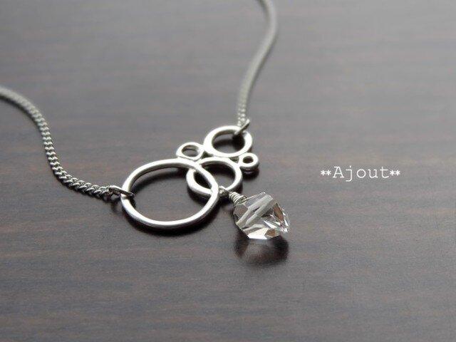 ハーキマーダイヤモンドのネックレス《N-17》の画像1枚目