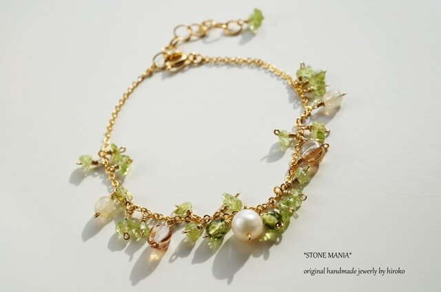 ペリドット ブレスレット Lady green bracelet B0028の画像1枚目