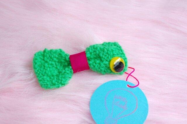 Mr Bow knit (brooch)の画像1枚目