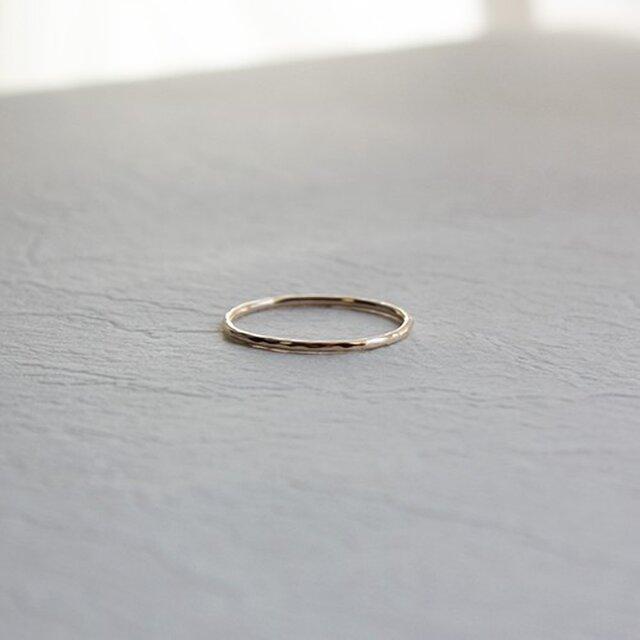 十金極細丸棒槌目指輪 rr-52の画像1枚目