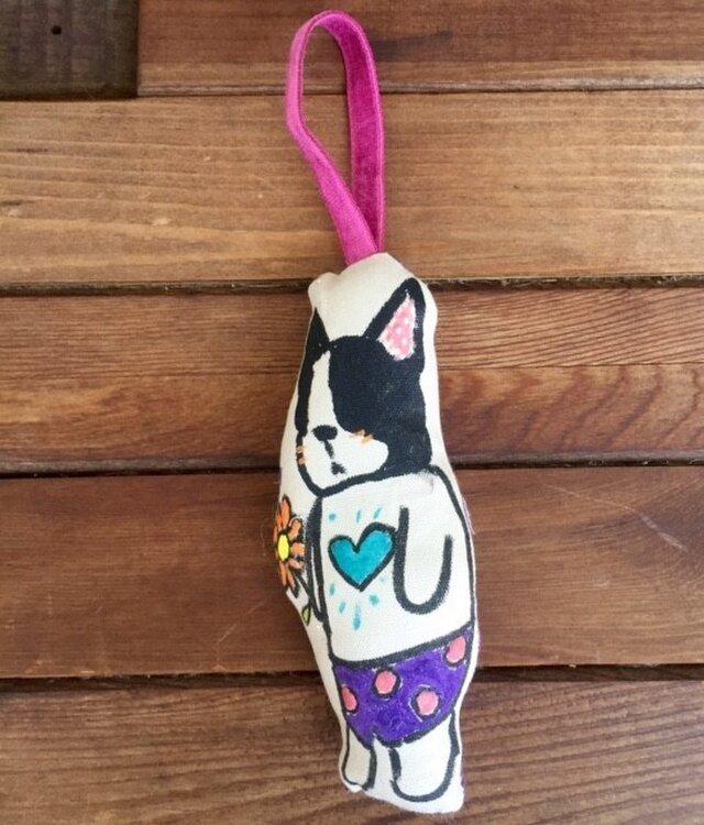 オーガニックハーブの香るBUHIチャーム(紫パンツ)の画像1枚目