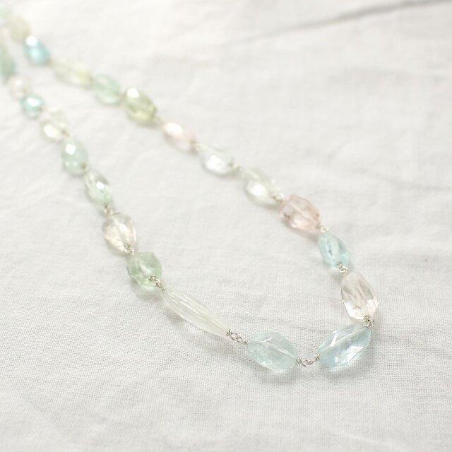 Mix Beryl Necklace ミックスベリルのネックレスの画像1枚目