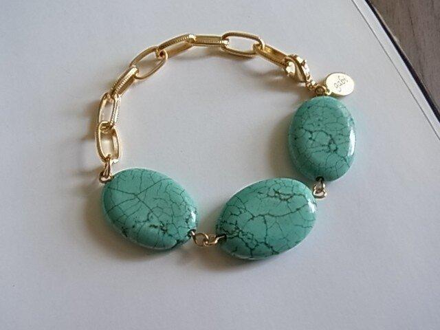 Turquoise Stone design Braceletsの画像1枚目
