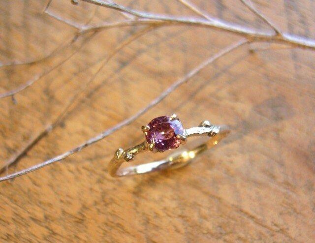 ピンクスピネルの小枝のリングの画像1枚目