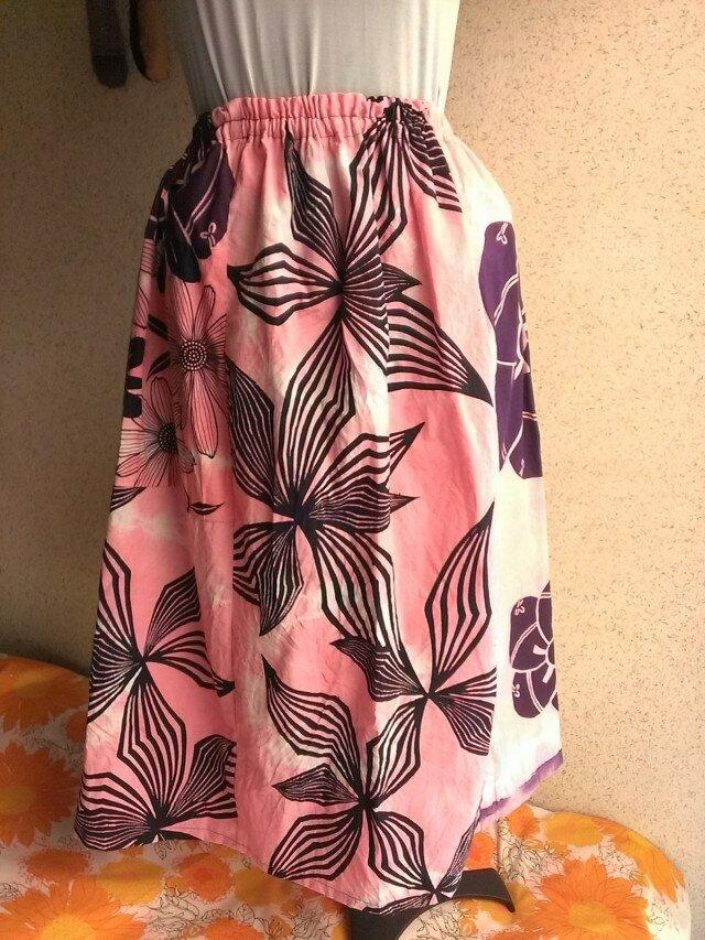 浴衣地染めスカート 150724-02の画像1枚目