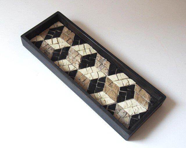 茶流 Smart Tray [Cubes ] blackの画像1枚目