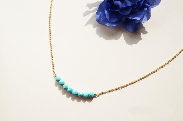 ターコイズネックレス Turquoise necklace N0011の画像1枚目