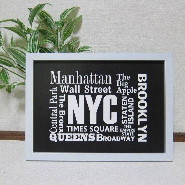 7p2■A2サイズ ポスター■ニューヨーク壁紙■タイポグラフィの画像1枚目