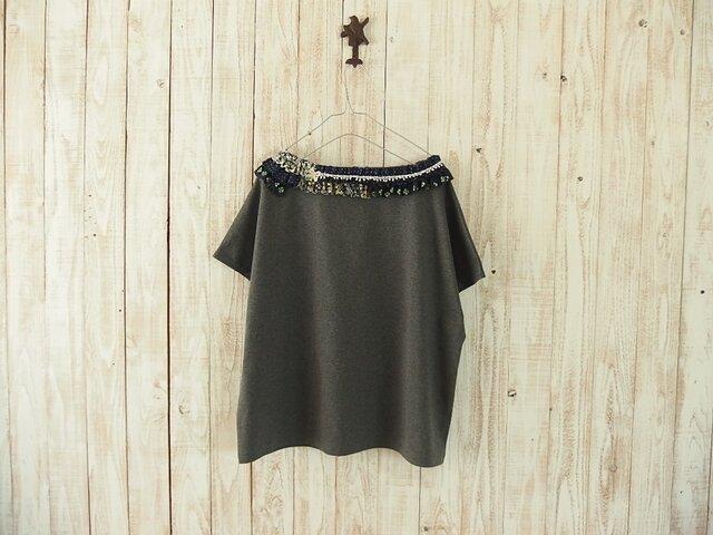 コラージュTシャツ/チャコール Eの画像1枚目