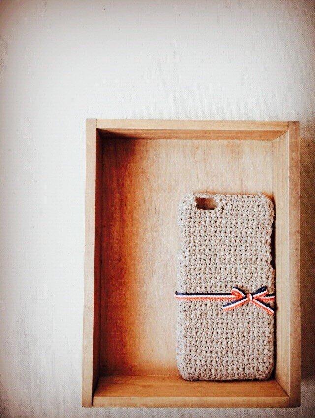 リボンのiPhone5/6ケース 【トリコロール】の画像1枚目