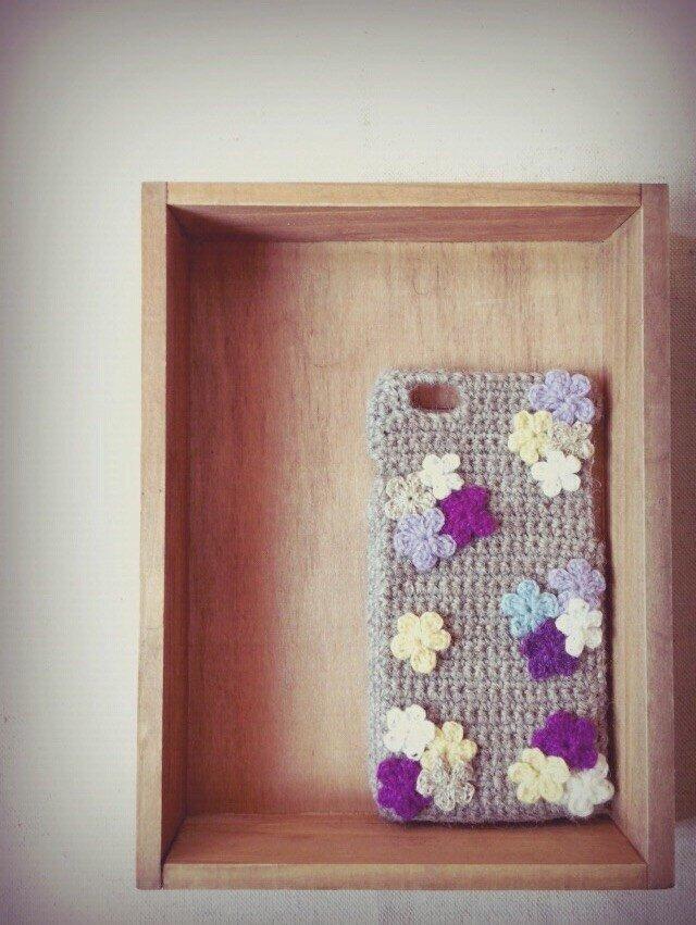 お花のiPhone5/6ケース 【No.1】の画像1枚目