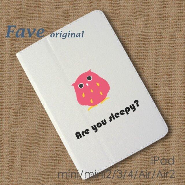 iPadオリジナル レザーケース(フクロウ~ロゴ)の画像1枚目