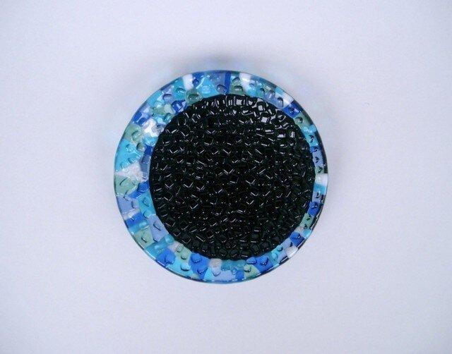 16  ガラス黒丸皿の画像1枚目