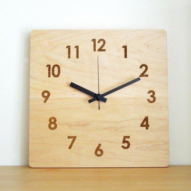 clock54 | world largeBK(メープル)の画像1枚目