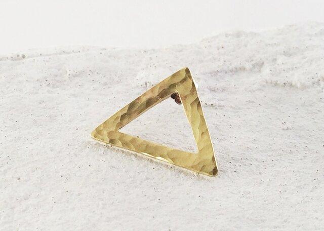 秘密の三角形◇真鍮鍛金ピンズの画像1枚目