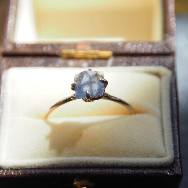 色の変わるニューメキシコ州産蛍石のリング(フローライト)の画像1枚目
