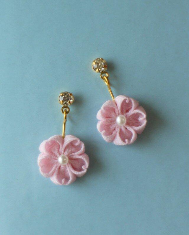 はんなり桜のピアス ピンクの画像1枚目