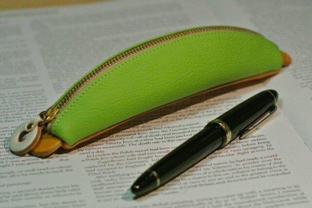 バナナペンケース (黄緑)の画像1枚目
