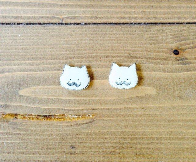 手描き猫:ピアス/イヤリングの画像1枚目