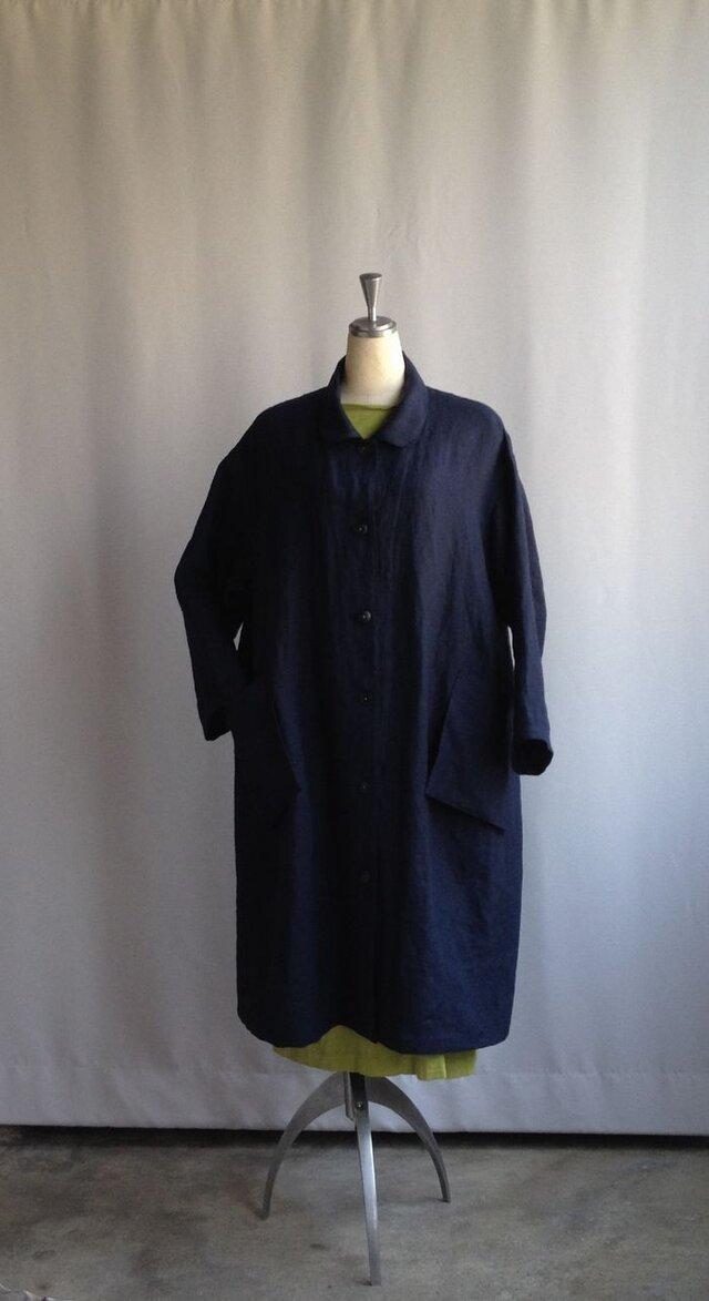 ゆったりなコートドレス・鉄紺の画像1枚目
