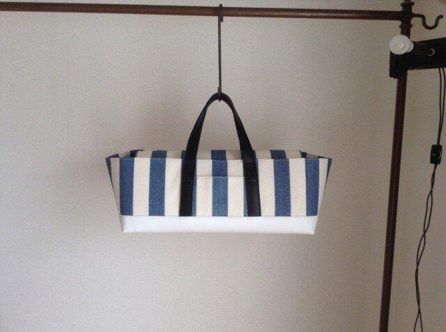 Tool box bag(酒バッグ)藍染め帆布の画像1枚目