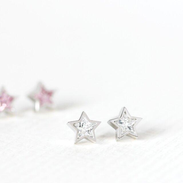 星 ☆ スタッド ピアス シルバー925の画像1枚目