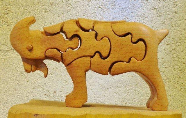 木の立体動物パズル「ani-woods」やぎの画像1枚目