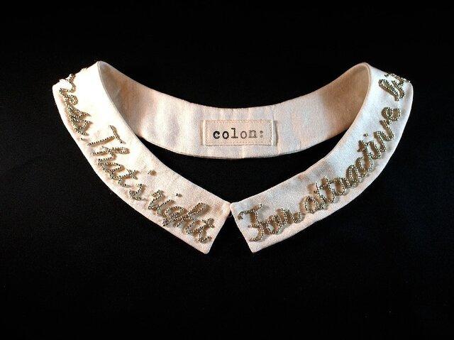Longmessage beads collarの画像1枚目