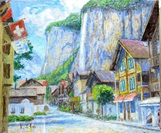 滝の街『ラウターブルンネン』の画像1枚目