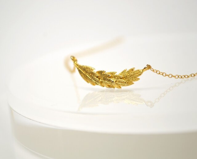 14kgf Feather Necklaceの画像1枚目