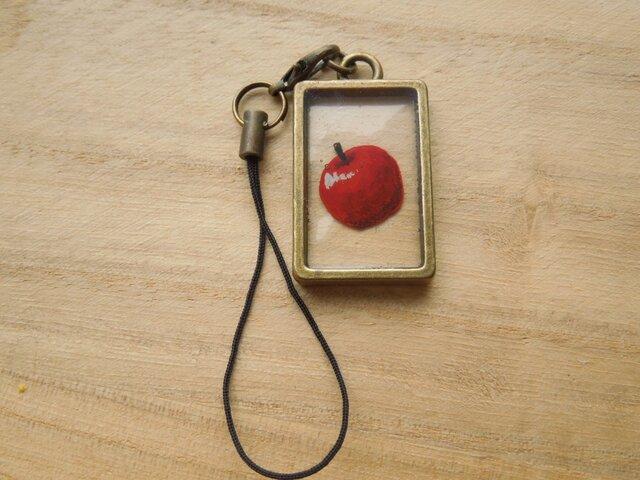 額縁りんごストラップの画像1枚目
