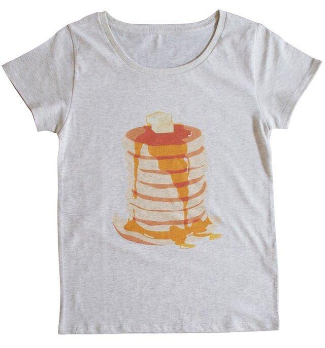 パンケーキハットのTシャツ(オートミール)の画像1枚目