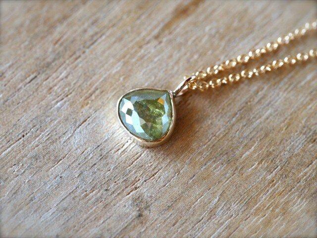 Muscat Drop Diamond Necklaceの画像1枚目