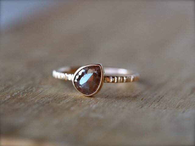 Acorn Brown Diamond Ringの画像1枚目