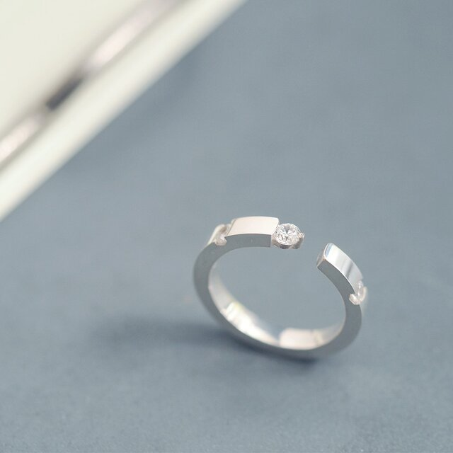 ミニマル リング 指輪 シルバー925の画像1枚目