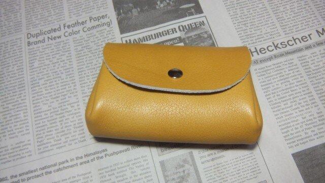 アコーディオン♪お財布(キャメルシボ)の画像1枚目