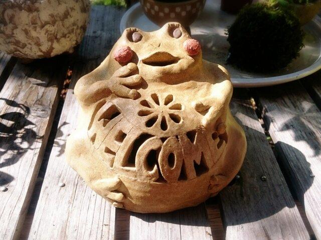 カエルのウェルカムランタンの画像1枚目