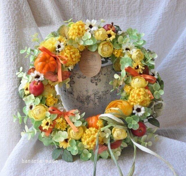 【sold】yellow fantasy wreathの画像1枚目