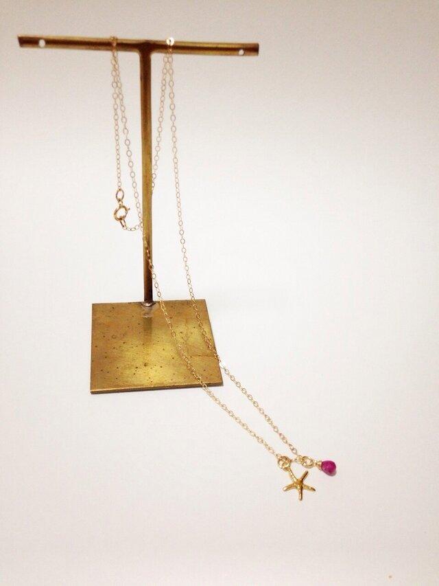 【jewelry series】ピンクトルマリンネックレスの画像1枚目