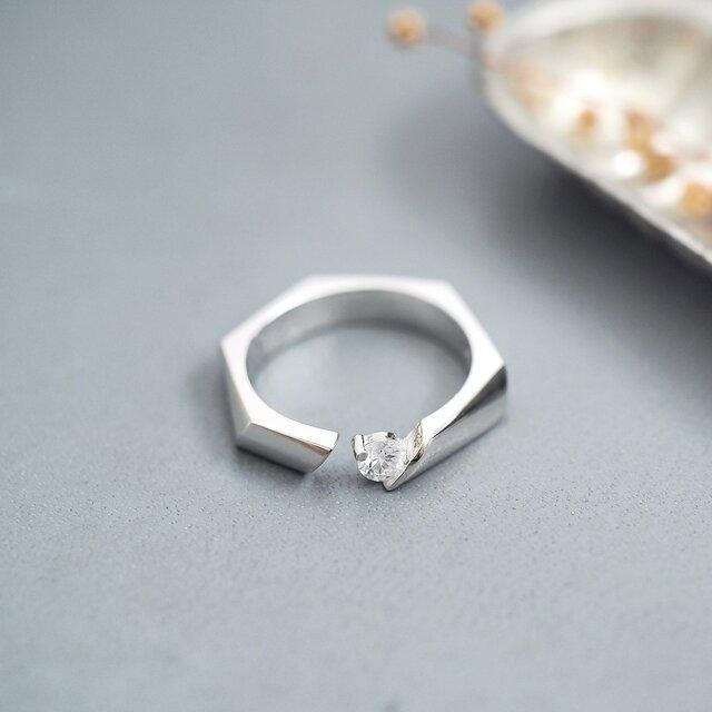 ナット リング 指輪 シルバー925の画像1枚目